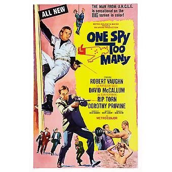 Jeden Szpieg zbyt wielu z nas sztuki plakatu z góry David Mccallum Robert Vaughn 1966 Movie Poster Masterprint