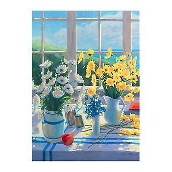 Żółte stokrotki Poster Print przez Suzanne Hoefler (24 x 32)
