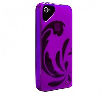 OLO glacier snap on case cover case iPhone 5 / 5S transparent purple