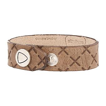 Strellson jewelry leather bracelet length 22 cm light brown
