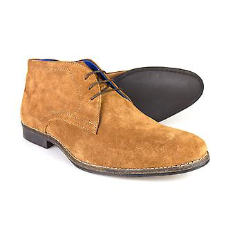 Red Tape Elstow Men's Tan Suede Leather Formal Desert Boots