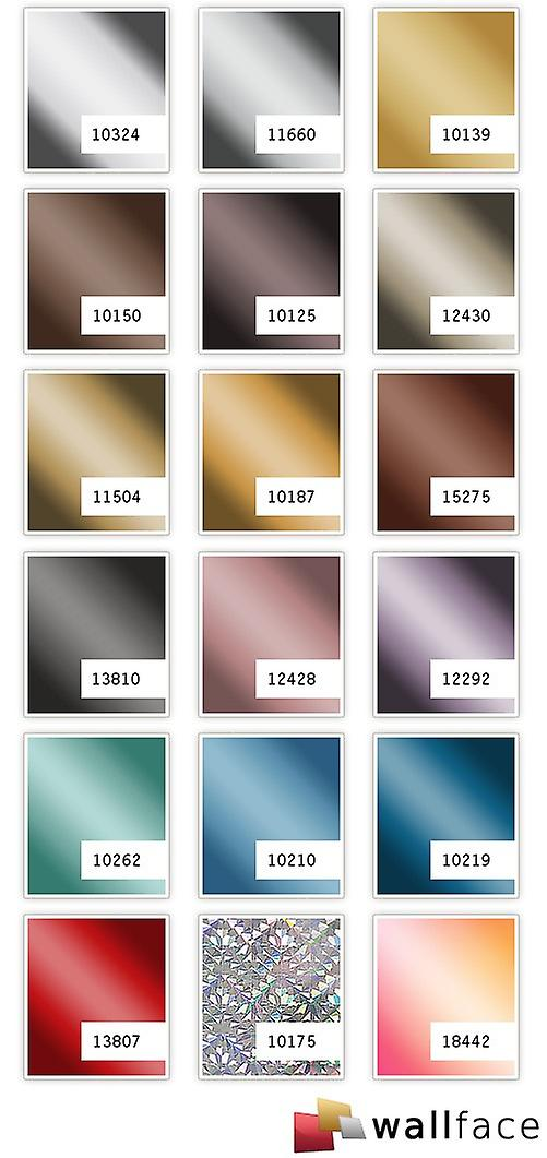 Wall Panel mirror decor gloss look WallFace 10150 DECO BROWN panel wall covering adhesive Brown | 2.60 sq m