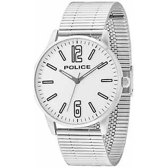 Politie Mens Esquire RVS Billet White Dial 14765JS / 04M Watch