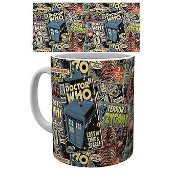 Doctor Who comics taza
