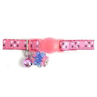 Safety Buckle Kitten Collar Luxury Jewel Pink (Pack of 3)