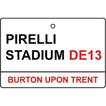 Burton / Pirelli Stadium Street Sign Car Air Freshener