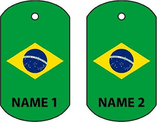 Personalised Brazil Dog Tag Car Air Freshener