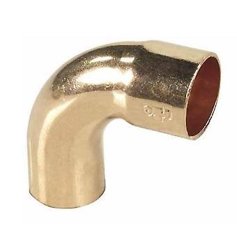 Rør montering bue albue kobber lodde mandlige x kvindelige 15mm Diameter 90deg vinkel