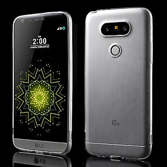 Ultra thin TPU rubber cover for LG G5 (transparent)