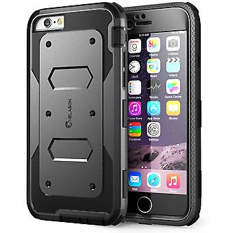 i-Blason- iphone 6 plus, Armorbox Series Dual Layer Full Body Protection Case with Screen Protector-Black