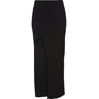 River Island Thigh Split Glitter Maxi Skirt