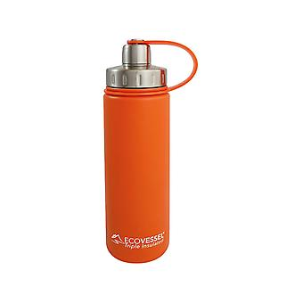Eco fartøj Boulder isoleret vandflaske si 20 oz Orange Blast