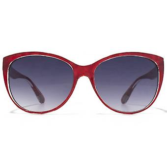 American Freshman Cateye Sunglasses In Red Marble
