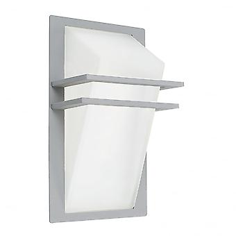 Eglo Park 1 Light Outdoor Wall Light Grey Finish IP44
