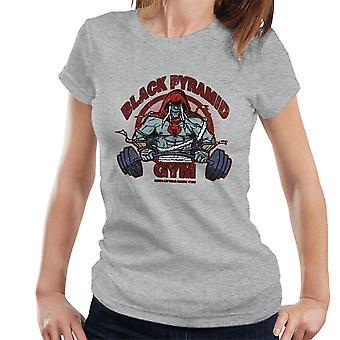 Sort pyramide Gym Mumm Ra Thundercats kvinders T-Shirt