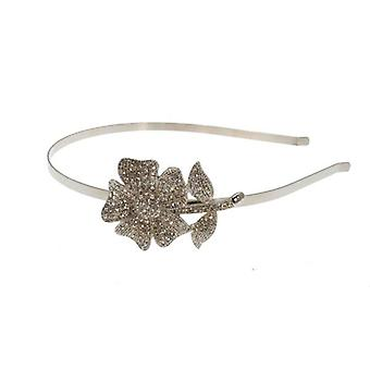 W.A.T Swarovski Crystal Flower On Stem Hairband