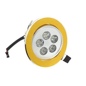 I LumoS High Quality Epistar 5 Watts Gold Circle Aluminium Warm White LED Tiltable Recessed Spot Down light