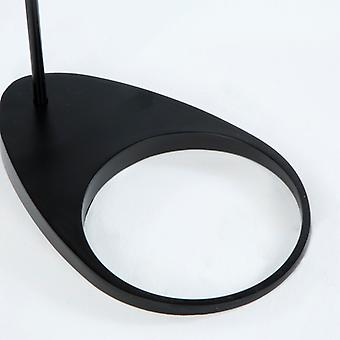 Wellindal Lámpara De Pie 34x14x130 Metal Negro (Home , Lighting , Floor lamps)