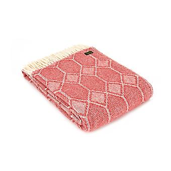 Tweedmill zuivere nieuwe wol Churchpane Throw - Cranberry