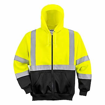 Portwest - Hi-Vis Safety Workwear Two-Tone Zipped Hoodie Zipped Top
