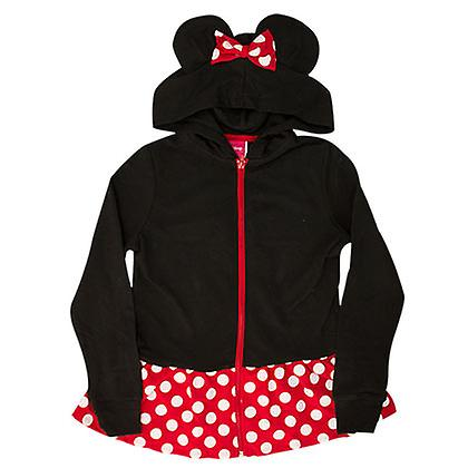 Minnie Mouse noir Girl Costume Hoodie