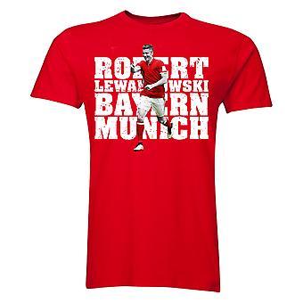 Robert Lewandowski Bayern Munich Player T-Shirt (Red) - Kids