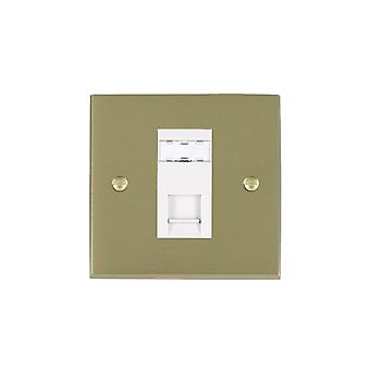 Hamilton Litestat Cheriton Victorian Satin Brass 1g RJ45 CAT5E Unshielded WH
