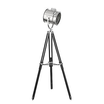 Adjustable Chrome And Black Stage Lamp - Searchlight 5015