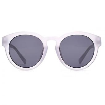 French Connection Premium Chunky Round Sunglasses In Matte Clear