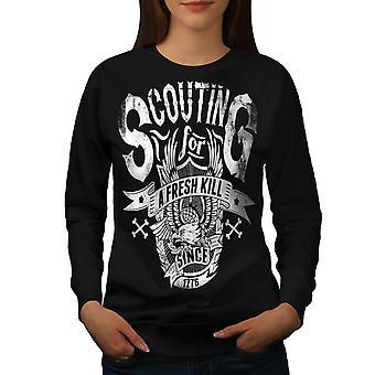 Scouting For Kill Women BlackSweatshirt | Wellcoda