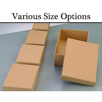 Paper Mache Rectangular Flat Boxes with Lids to Decorate