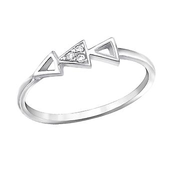 Geometric - 925 Sterling Silver Jewelled Rings