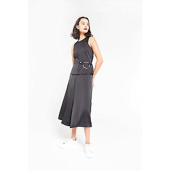 Aeryne Wide Leg Overall mit Ring-Detail