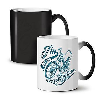 Bike Motor NEW Black Colour Changing Tea Coffee Ceramic Mug 11 oz   Wellcoda