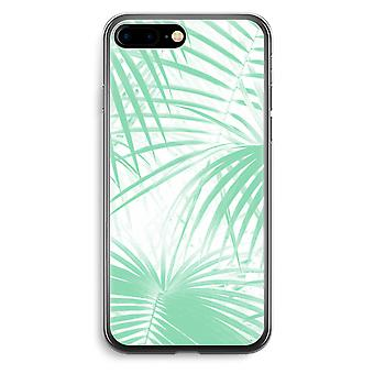 iPhone 7 Plus transparant Case (Soft) - palmbladeren