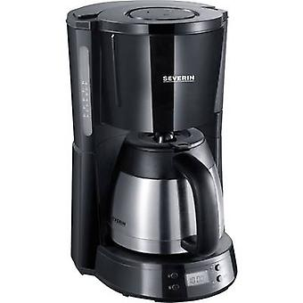 Coffee maker Severin KA 4141 Black, Stainless steel (brushed) Cup volume=8 Timer, Thermal jug