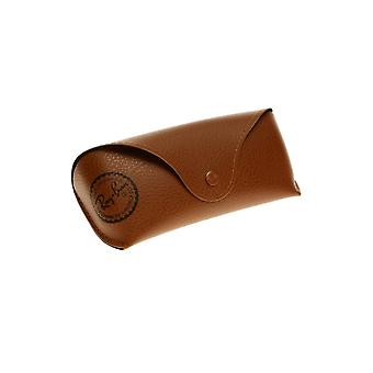Ray-Ban Ray-Ban Matte Brown Textured Sunglasses Case With Black Print Logo