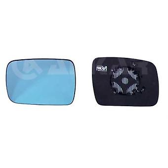 Left Blue Mirror Glass (heated) & Holder For DISCOVERY IV 2009-2013