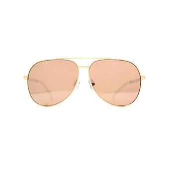 French Connection Oversized Pilot Sunglasses In Matt Rose Gold