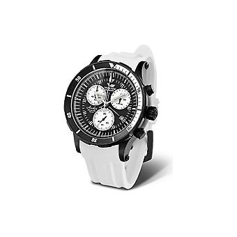 Vostok Europe Anchar Chrono mens watch white quartz 6S30-5104184