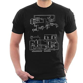 TRS 80 Computer Schematic Men's T-Shirt