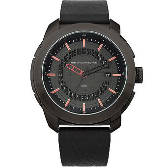French Connection Mens Womens Black Wrist Watch FC1189RB