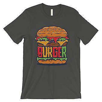 Juicy Burger Mens Cool Grey Vintage Design Round Neck Gift T-Shirt