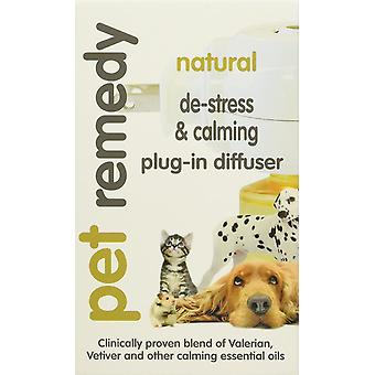 Pet Remedy Natural Dog Cat Pet De-Stress and Calming Plug-In Diffuser, 40 ml