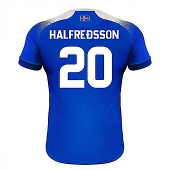 Maillot de foot domicile Errea 2018-2019 Islande (Halfredsson 20)