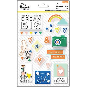 Dream On Layered Chipboard Stickers 5