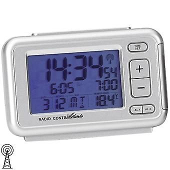 Atlanta 1463/19 alarm clock radio alarm clock digital silver with light digital alarm clock