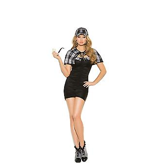 Elegant Moments Womens Sassy Detective Investigator Halloween Roleplay Costume