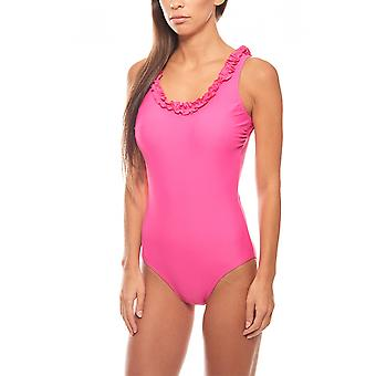 romantic belly way C Cup swimsuit pink heine