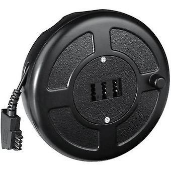 Hama telefonkabel-hjuls [1 x TAE-F-stik - 1 x TAE-NFN socket] 15 m sort